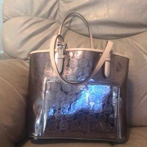 Michael kors beautiful silver metallic purse
